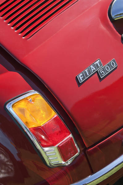 Photograph - 1971 Fiat 500 Jolly Taillight by Jill Reger