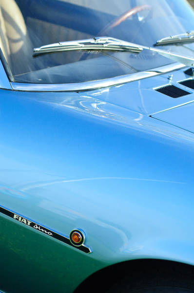 Photograph - 1971 Fiat Dino 2.4 Side Emblem by Jill Reger