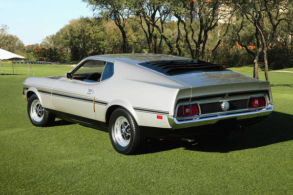 Rancho Mirage Photograph - 1971 Ford Mustang Mach 1 Fastback Coupe by Car Culture