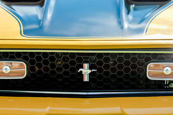 Photograph - 1971 Ford Mustang Mach 1 Front End by Jill Reger