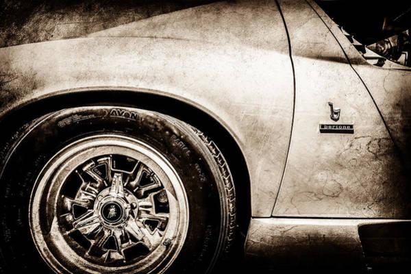 Photograph - 1971 Lamborghini Miura Sv Wheel Emblem -0390s by Jill Reger