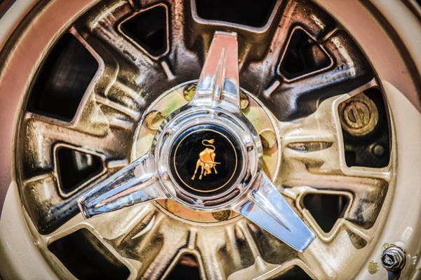 Photograph - 1971 Lamborghini Miura Sv Wheel Emblem -0982c by Jill Reger
