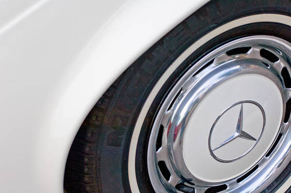 Photograph - 1971 Mercedes-benz Wheel Emblem by Jill Reger