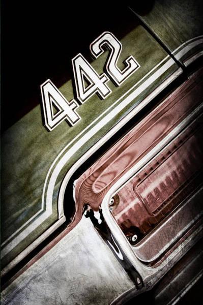 Photograph - 1971 Oldsmobile 441 Taillight Emblem by Jill Reger