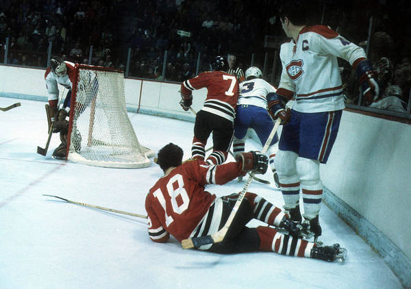 1971 Stanley Cup Finals:  Chicago Blackhawks V Montreal Canadiens Art Print by Melchior DiGiacomo