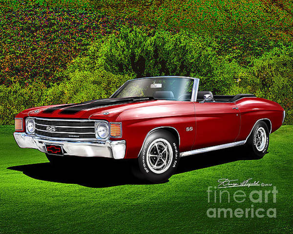 1972 Mixed Media - 1972 Chevelle Ss Convertible  by Danny Whitfield