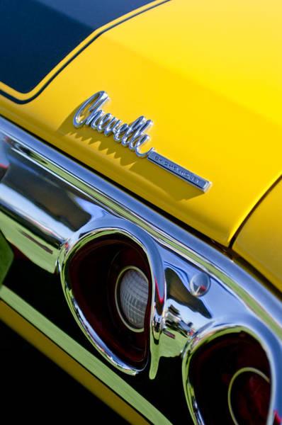 1972 Photograph - 1972 Chevrolet Chevelle Taillight Emblem by Jill Reger