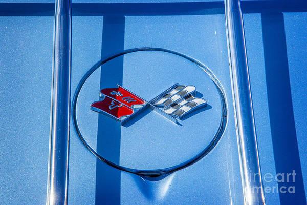Photograph - 1972 Chevrolet Corvette Stingray Emblem Color 3034.02 by M K Miller