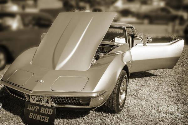 Photograph - 1972 Chevrolet Corvette Stingray In Sepia 3030.01 by M K Miller