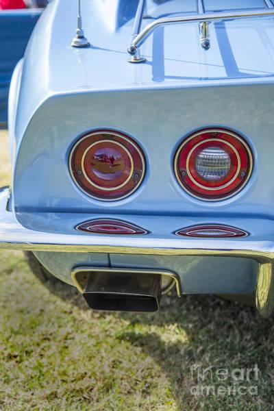 Photograph - 1972 Chevrolet Corvette Stingray Tail Lights Color 3033.02 by M K Miller