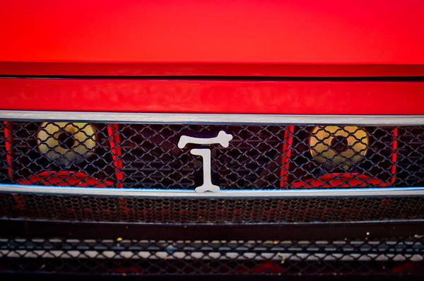Photograph - 1972 Detomaso Pantera Grille Emblem -0275c by Jill Reger