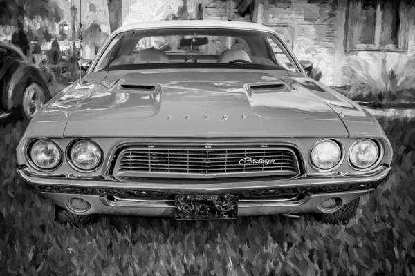 Photograph - 1972 Dodge 340 Challenger Painted Bw  by Rich Franco