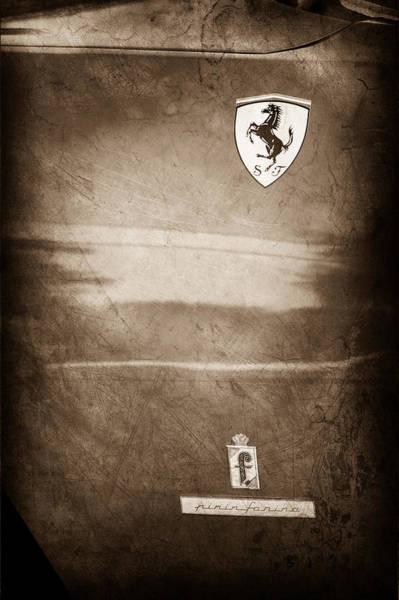 1972 Photograph - 1972 Ferrari 365 Gtc-4 Emblems by Jill Reger