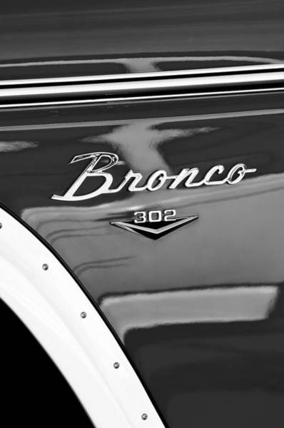 Ford Photograph - 1972 Ford Bronco Emblem by Jill Reger