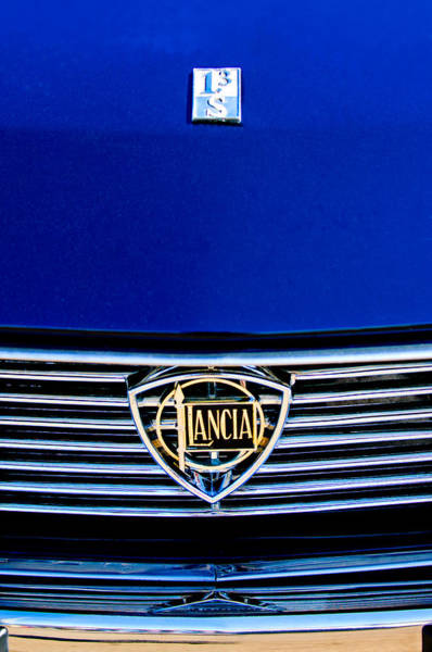 Photograph - 1972 Lancia Fulvia 1.3s S2 Grille Emblem by Jill Reger