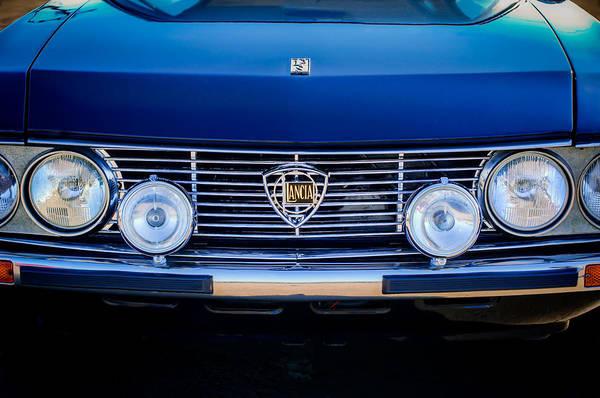 Photograph - 1972 Lancia Fulvia Grille Emblem -0051c by Jill Reger