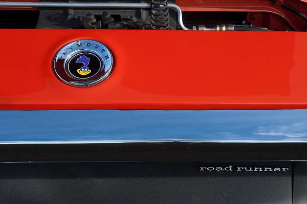 Photograph - 1972 Plymouth Road Runner Hood Emblem by Jill Reger