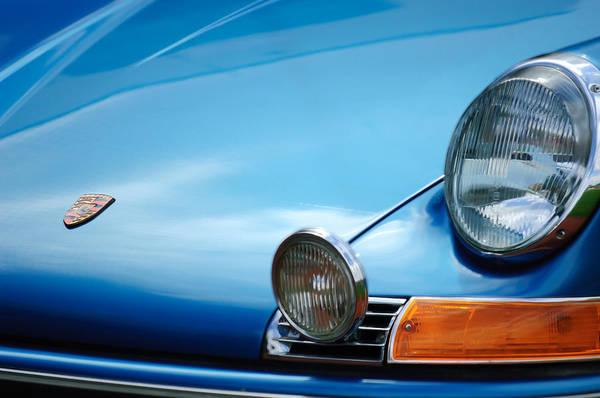 1972 Photograph - 1972 Porsche 911s Hood Emblem by Jill Reger