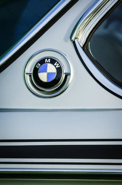 0 Wall Art - Photograph - 1973 Bmw 3.0 Csl Side Emblem -1278c by Jill Reger