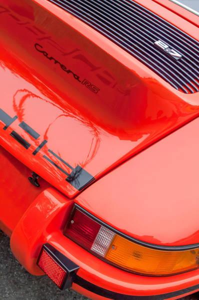 Photograph - 1973 Porsche 911 Carrera Rs Lightweight Rear Emblem by Jill Reger