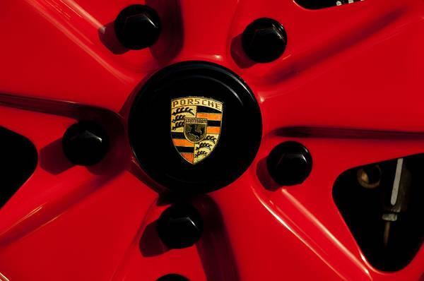 Photograph - 1973 Porsche 911 Rs Wheel Emblem by Jill Reger
