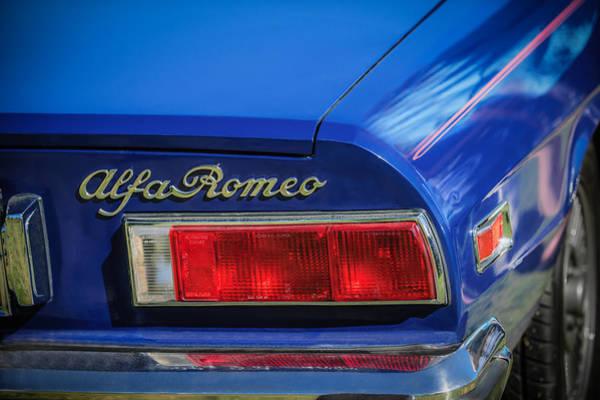 Photograph - 1974 Alfa Romeo Spider Iniezione 2000 Taillight Emblem -2301c by Jill Reger