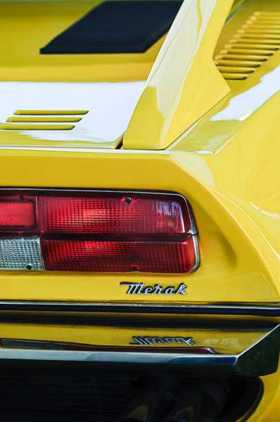 Photograph - 1974 Maserati Merak Taillight Emblem -1265c by Jill Reger