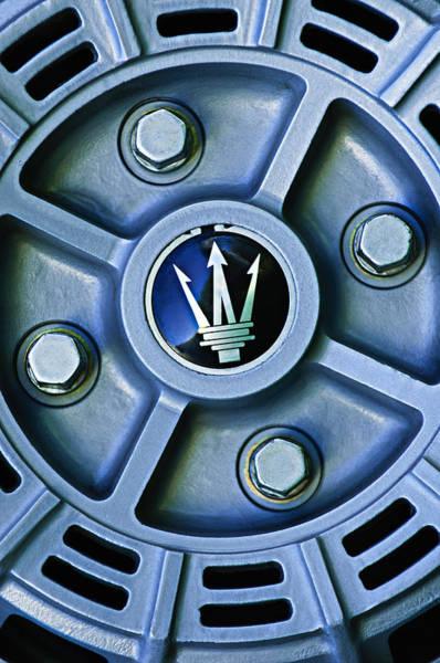 Photograph - 1974 Maserati Merak Wheel Emblem by Jill Reger