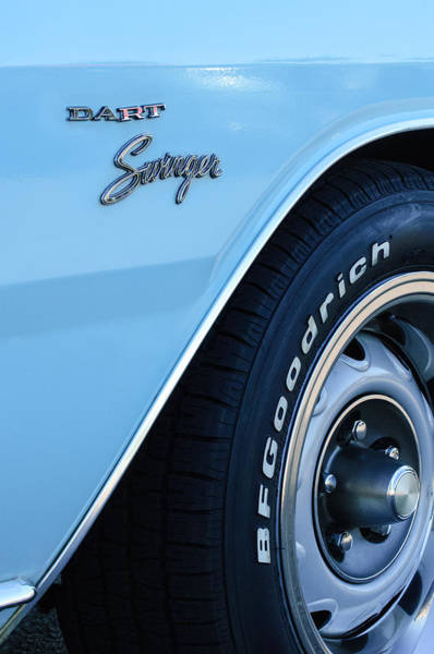 Photograph - 1975 Dodge Dart Swinger Emblem by Jill Reger