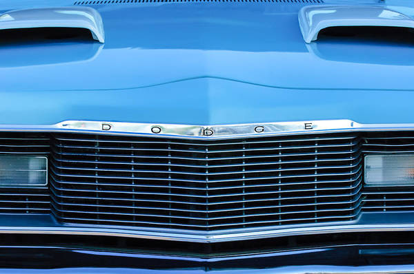 Photograph - 1975 Dodge Dart Swinger Grille by Jill Reger