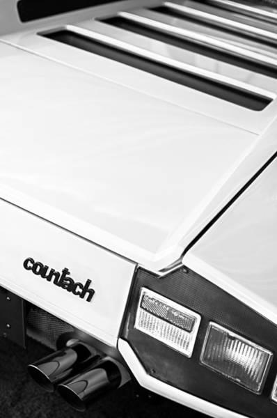 Photograph - 1975 Lamborghini Countach Lp400 'periscopica' Rear Emblem by Jill Reger