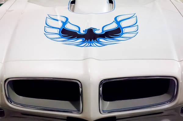 Firebird Photograph - 1975 Pontiac Trans Am Firebird Hood Painting by Jill Reger