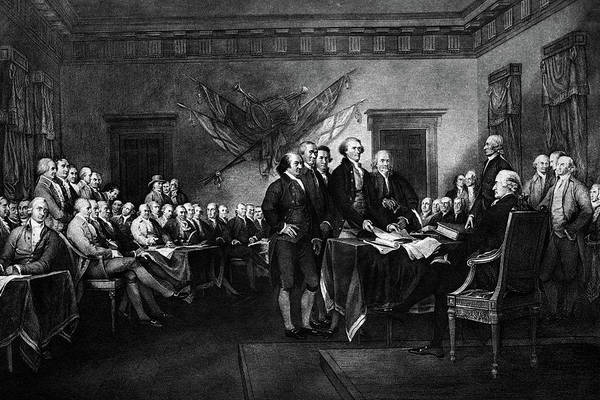 Congress Painting - 1976 John Trumbulls Rendering by Vintage Images