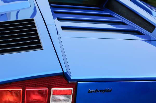 1976 Photograph - 1976 Lamborghini Countach Lp400 Taillight Emblem by Jill Reger