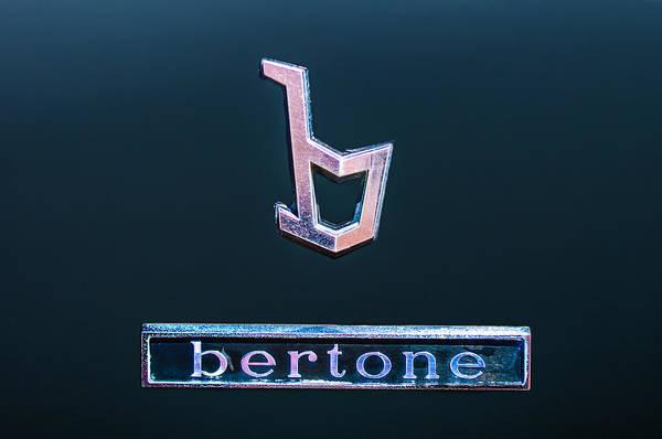1976 Photograph - 1976 Lamborghini Urraco P300 Bertone Emblem by Jill Reger