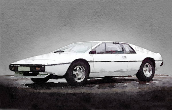 Car Mixed Media - 1976 Lotus Esprit Coupe by Naxart Studio