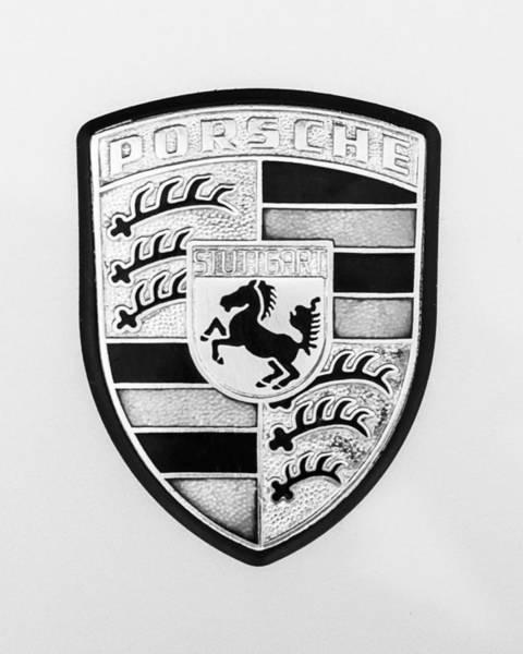 1976 Photograph - 1976 Porsche 911 Carrera 2.7 Emblem - 1082bw45 by Jill Reger
