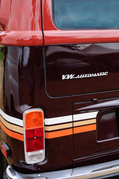 Vw Emblem Photograph - 1978 Volkswagen Vw Champagne Edition Bus Taillight Emblem by Jill Reger