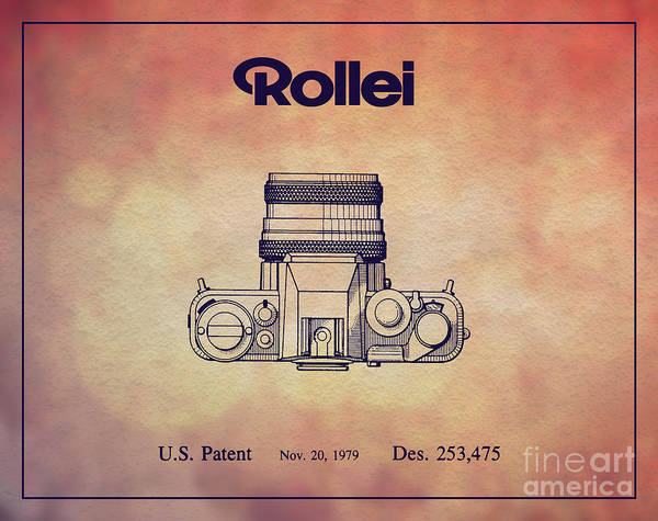 Vintage Patent Wall Art - Digital Art - 1979 Rollei Camera Patent Art 2 by Nishanth Gopinathan