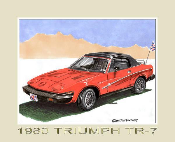 Tr Painting - 1980 Triumph T R 7 by Jack Pumphrey