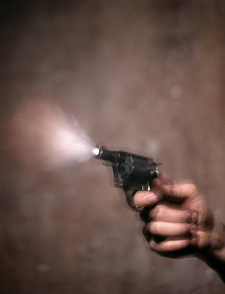 Space Gun Photograph - 1980s Blur Motion Of A Hand Shooting by Vintage Images