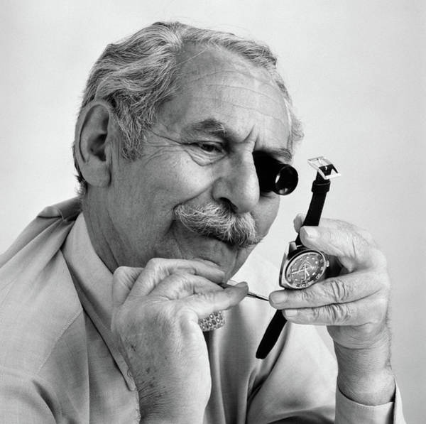 Wall Art - Photograph - 1980s Elderly Mustached Man With Loupe by Vintage Images