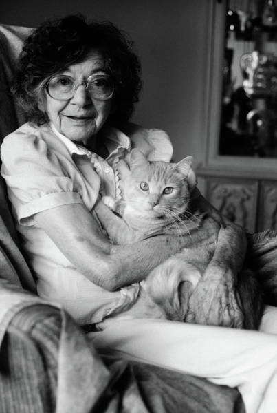 Elder Care Photograph - 1980s Senior Woman Wearing Glasses by Vintage Images