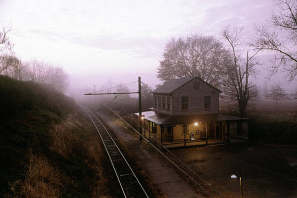 Middle Of Nowhere Photograph - 1980s Sunrise Morning Light On Westtown by Vintage Images
