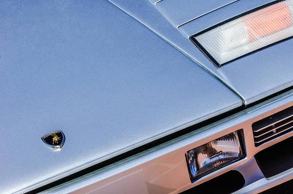 Photograph - 1982 Lamborghini Countach 5000s Hood Emblem -1518c by Jill Reger