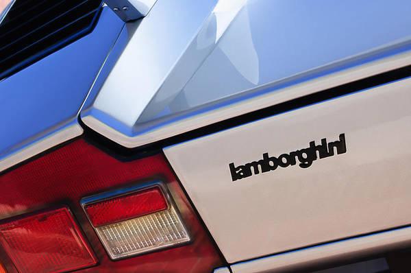 Photograph - 1982 Lamborghini Countach 5000s Taillight Emblem by Jill Reger