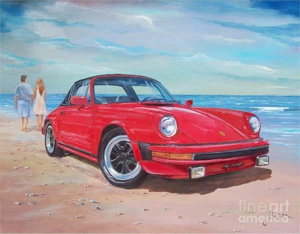 Painting - 1985 Porsche 911 Targa by Sinisa Saratlic