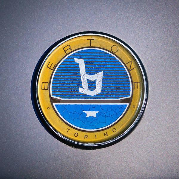 Photograph - 1986 Fiat Emblem -0054c by Jill Reger
