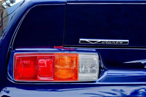 Photograph - 1988 Aston Martin Vantage Volante Taillight Emblem by Jill Reger