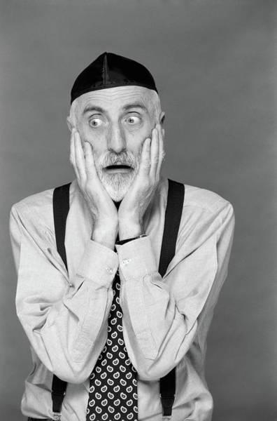 Hebrews Photograph - 1990s Portrait Jewish Man Gray Beard by Vintage Images